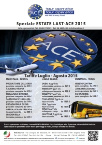 Offerta Viaggi Ace Tour Estate 2015 Consap