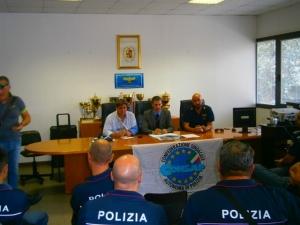 Reparto Prevenzione Crimine Lazio - Assemblea CONSAP del 4 settembre 2015. Gianluca Guerrisi, Massimo Vannoni e Andrea De Meo