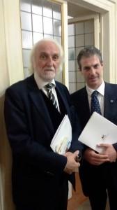 Guerrisi e il Magnifico Rettore Università Telematica Pegaso Prof. Alessandro Bianchi