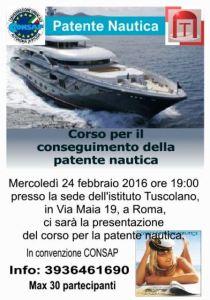 CORSO Patente Nautica CONSAP Roma