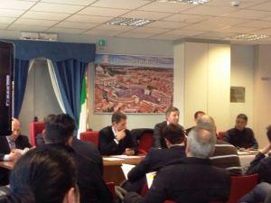 Assemblea CONSAP Questura ROMA, nella foto Giorgio Innocenzi, Gianluca Guerrisi, Mauro Pantano, Giuseppe Di Niro, Luigi Minerva, Simone Cesario e Terenzio D'Alena