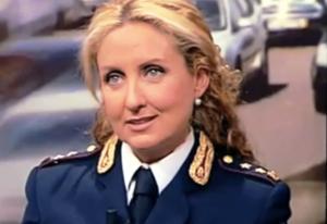 La dott.ssa Elisabetta Mancini, Dirigente della Sezione Polizia Stradale di ROMA