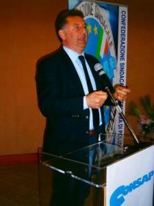 Cesario Bortone, Coordinatore Nazionale CONSAP del Centro Italia, presente all'incontro presso la Questura