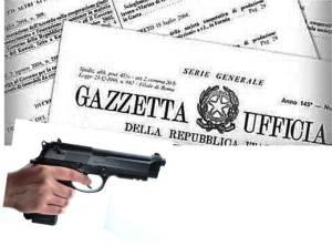 Polizia, solo attestazione di servizio per il porto d'armi, modificato il Decreto del Ministero della Sanità