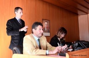 Elisabetta Ricchio, Maurizio Bellini e Gianluca Guerrisi della CONSAP