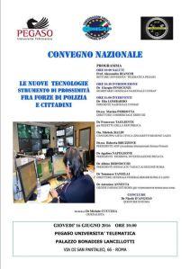 La Consap, sindacato di Polizia, organizza il convegno sulle nuove tecnologie nella lotta al crimine, fra gli ospiti il Questore di Roma D'Angelo