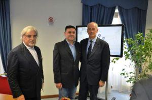 Il Segretario Provinciale di Roma Luigi Minerva con il Capo della Polizia Pref. Gabrielli e il Questore di Roma dr. D'Angelo