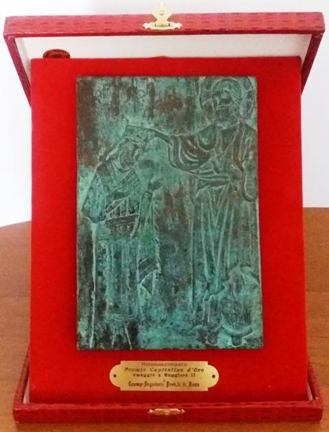 Premio Capitolino d'Oro rilasciato dalla Norman Academy alla CONSAP di Roma