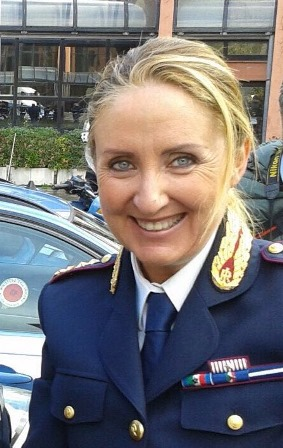 Il Dirigente della Sezione Polizia Stradale di Roma dott.ssa Elisabetta Mancini