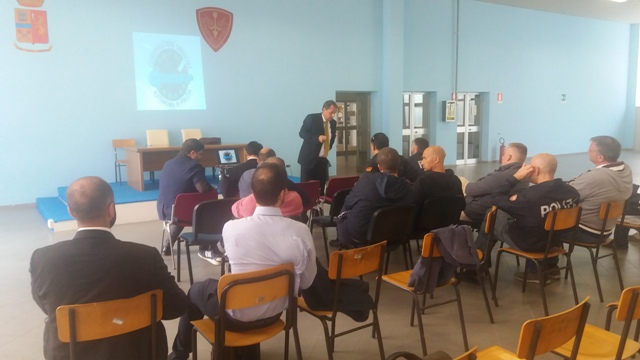 Le fasi dell'assemblea sindacale CONSAP al I° Reparto Mobile di Roma