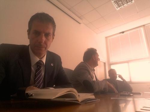 Polizia, Compendio Castro Pretorio, esito assemblea sindacale, nella foto Guerrisi, Bortone e D'Anastasio