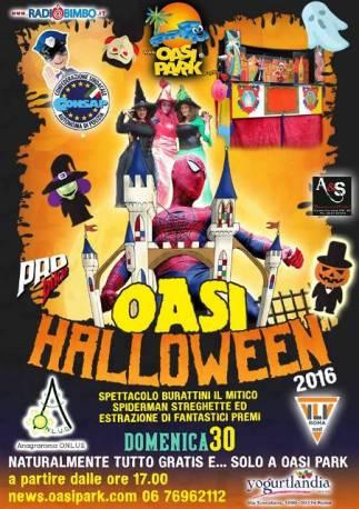Oasi Halloween, spettacolo e divertimento a tema per bambini e famiglie all'Oasi Park, domenica 30 Ottobre ore 17.00, in collaborazione CONSAP