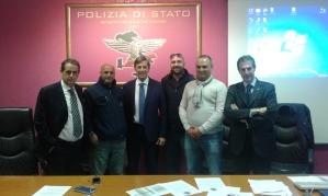 Reparto Prevenzione Crimine Lazio, da sinistra, Mauro Pantano, Claudio Astorino, Giorgio Innocenzi, Andrea De Meo, Gianluca Castelli e Gianluca Guerrisi