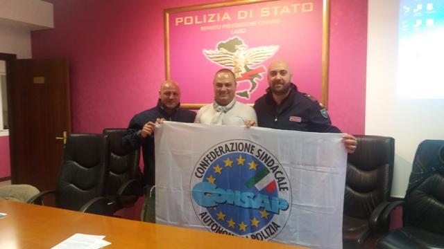 Assemblea Sindacale CONSAP al Reparto Prevenzione Crimine Lazio, la nuova Segreteria Locale con Castelli, De Meo e Astorino