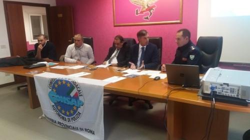 Assemblea Sindacale CONSAP al Reparto Prevenzione Crimine Lazio, il saluto del Dirigente del Reparto dr. Federico Zaccaria