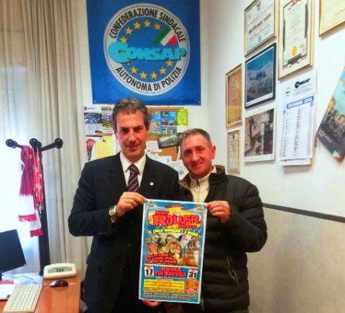 Nella foto: Gianluca Guerrisi, Segretario Generale Aggiunto CONSAP di Roma e Alberto Vassallo della Direzione del Rony Roller Circus