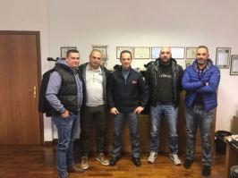 Nella foto da sinistra: Giuseppe Rufo, Gianluca Castelli, il Dirigente RPC Lazio dr Federico Zaccaria, Andrea De Meo e Massimo Marrucci