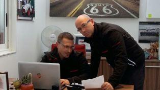 Nella foto i responsabili della Carozzeria Caravaggio Maurizio e Tomas