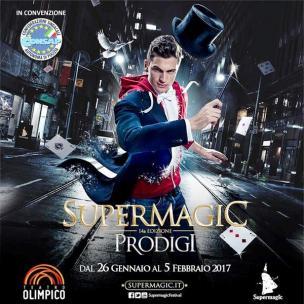 """Supermagic 14ma Edizione """"PRODIGI"""", Roma, dal 26 gennaio al 5 febbraio 2017, ingresso in convenzione CONSAP"""