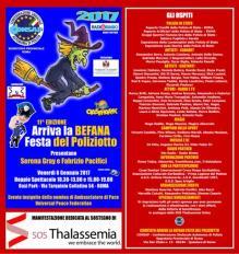 Arriva la Befana, Festa del Poliziotto CONSAP, Serena Gray e Fabrizio Pacifici sul palco dell'Oasi Park per festeggiare l'11^ edizione della kermesse a tema più vista nella capitale, sostegno per SOS Thalassemia Onlus