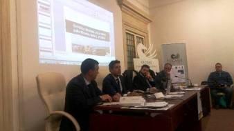 Il tavolo dei relatori al convegno sull'omicidio stradale organizzato dalla CONSAP presso l'Università Pegaso di Roma