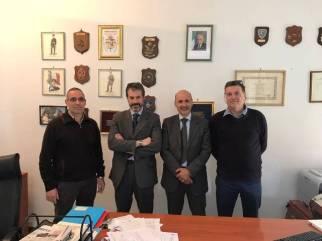 Nella foto da sinistra: Cirignoli, Guerrisi, il dr Parrella e Segala