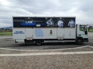 I laboratori mobili della Polizia Scientifica recuperati grazie alla segnalazione della CONSAP
