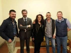 """CONSAP Reparto Scorte """"Villa Tevere"""", da sinistra Pangano, Guerrisi, Cento, Rizza e Scagnetto"""