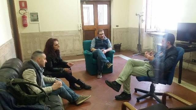 Momenti di lavoro riunione CONSAP al Reparto Scorte di Villa Tevere