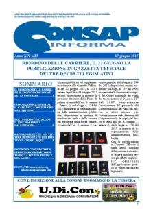 CONSAP Informa n. 23 del 17 Giugno 2017