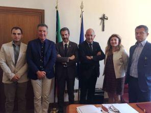 Nella foto da sinistra: Celestino, Turicchi, Guerrisi, il Direttore dr. Montini, la dott.ssa Priaro e Cerrone