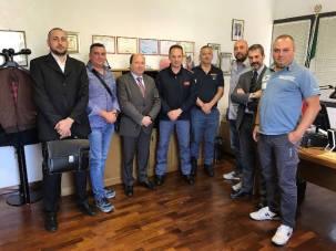 Nella foto da sinistra: Cesario, Rufo, Di Niro, il Dirigente del R.P.C. Lazio dr Zaccaria, Micchia, De Meo, Guerrisi e Castelli
