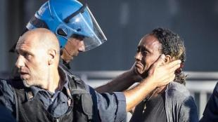 Roma, Agenti di Polizia in Ordine Pubblico a tutela della sicurezza