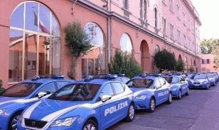 Interno della Caserma Maurizio Giglio, sede del Reparto Volanti di ROMA