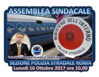 Il Segretario Generale f.f. Stefano Spagnoli tra i partecipanti all'assemblea sindacale del 16 ottobre 2017 alla Sezione Polstrada di Roma