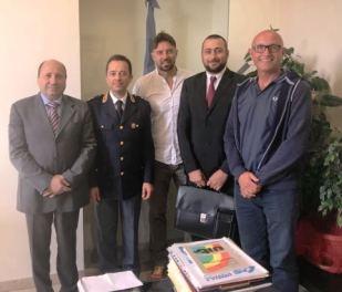 da sinistra: Di Niro, il dr Busacca, Matalone, Cesario e Salvucci