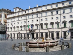 Palazzo Chigi sede del Governo Italia