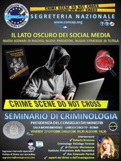 """Il Lato Oscuro dei Social Media - nuovi scenari di rischio, nuovi predatori, nuove strategie di tutela"""""""