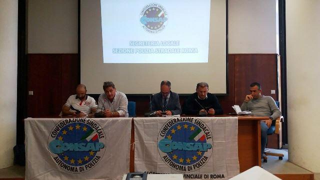 Polizia Stradale, Compartimento Lazio e Sezione Roma, partecipata assemblea sindacale CONSAP