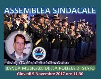 Assemblea Sindacale CONSAP alla Banda Musicale delle Polizia di Stato per giovedì 9 novembre 2017