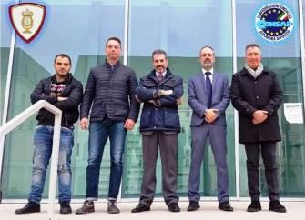 Assemblea Sindacale CONSAP alla Banda Musicale, nella foto da sinistra: Celestino, Profili, Guerrisi, Spagnoli e Turicchi