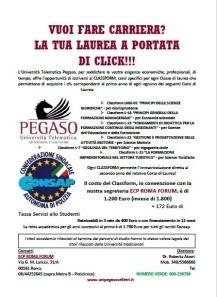 Convenzione CONSAP con Università PEGASO sistema CLASSFORM