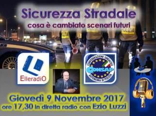 Sicurezza Stradale, giovedì 9 novembre 2017 ore 17.30 in diretta con Ezio Luzzi