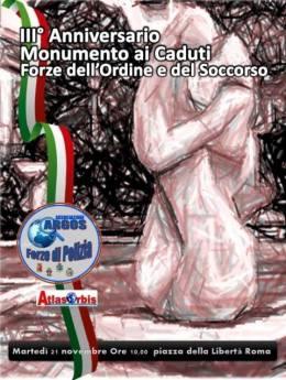 """Il Monumento esterno """"L'Abbraccio"""" collocato a Roma in Pizza della Libertà dedicato ai Caduti delle Forze dell'Ordine e del Soccorso"""