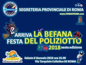 Arriva LA BEFANA festa DEL POLIZIOTTO VI^ edizione - CONSAP -