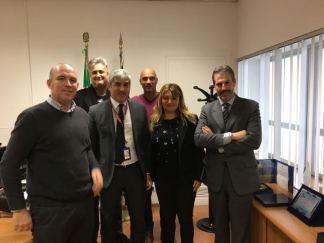 Fiumicino, V^ Zona: da sinistra Capodanno, Di Fazio, il Direttore dr Megale, Paradisi, Feminò e Guerrisi