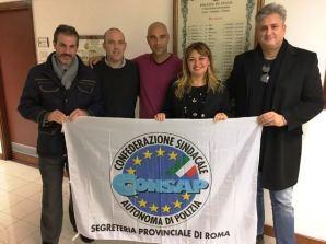 Nella foto da sinistra: Guerrisi, Capodanno, Paradisi, Feminò e Di Fazio - Uffici della Polizia di Frontiera - V Zona Lazio Sardegna Umbria presso Aeroporto Fiumicino