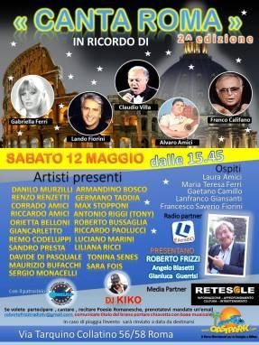 II^ edizione del CANTA ROMA - Sabato 12 Maggio 2018 dalle ore 16.45 presso l'Oasi Park
