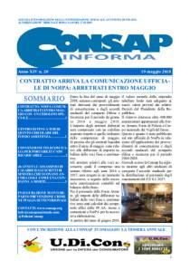 CONSAP Informa n. 20 del 19 Maggio 2018