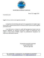 Nomina nuovi Segretari Provinciali ROMA